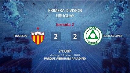 Resumen partido entre Progreso y Plaza Colonia Jornada 2 Apertura Uruguay