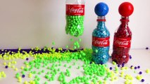 Learn Colors with Coca Cola Surprise Bottles Balls and Beads, Pj Masks Surprise Toys