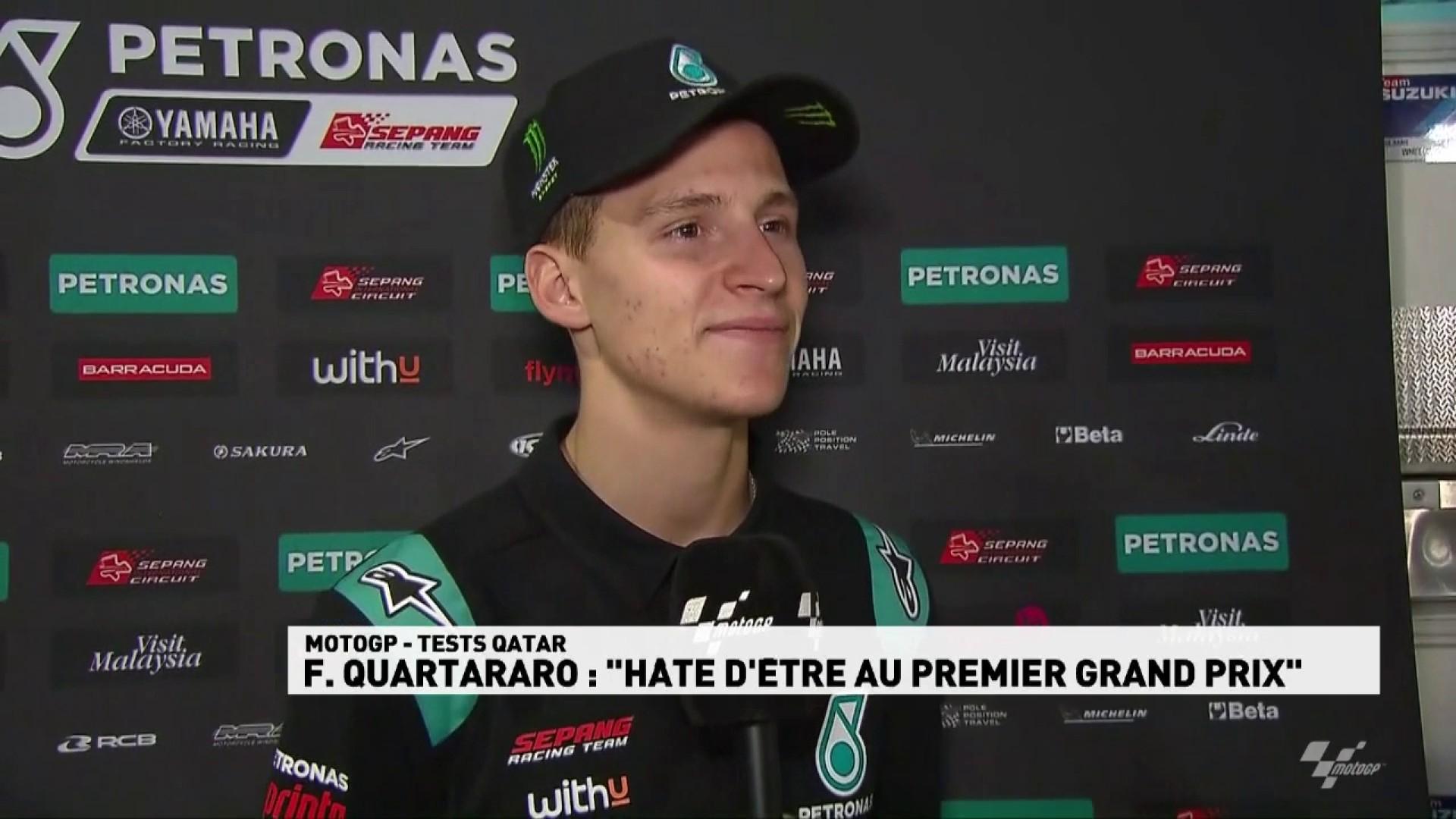 """Quartararo : """"hâte d'être au premier Grand Prix"""""""