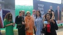 People in Agra await Trump's visit