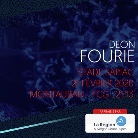 Rugby : Video - L'essai de Deon Fourie à Montauban