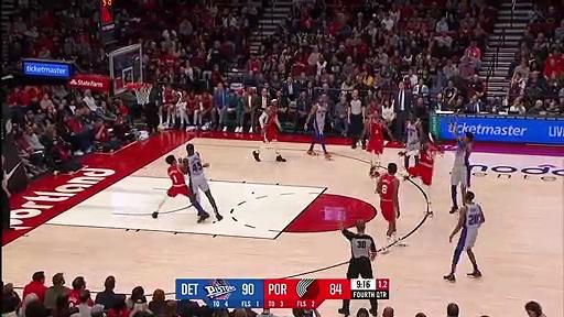 Detroit Pistons 104 - 107 Portland Trail Blazers