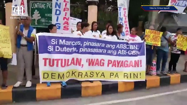 Different groups rally for ABS-CBN