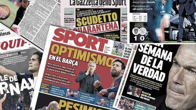 Le coronavirus affole l'Italie, le week-end terrible du Real Madrid