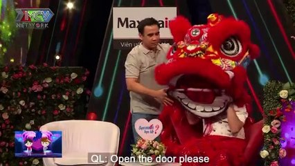 Lion dance troupe's boss comes to a dating show