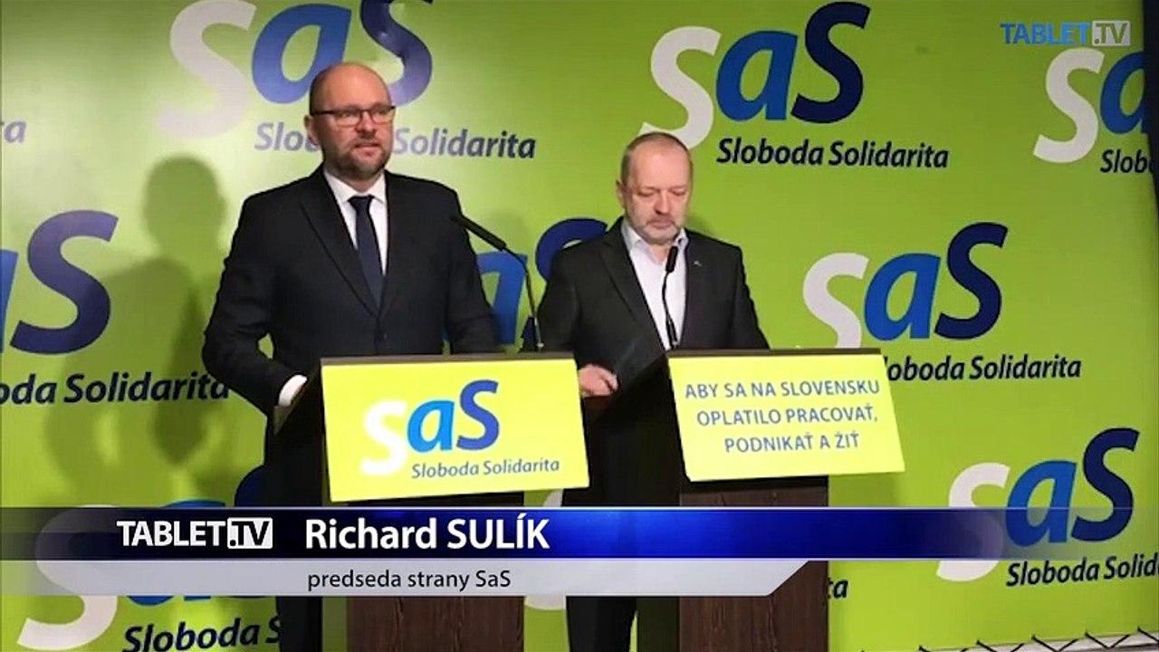ZÁZNAM: TK strany Sloboda a Solidarita
