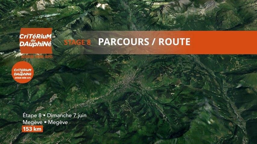 Parcours /Route - Étape 8/Stage 8 : Critérium du Dauphiné 2020
