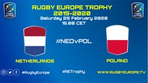 NETHERLANDS / POLAND - RUGBY EUROPE