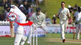 IND vs NZ 1st Test | பவுல்ட் விரித்த வலை.. சிக்கிய கோலி