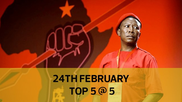 Top 5 @ 5: Court warns Malema of arrest, New homes for landslide victims, Kenei's autopsy postponed