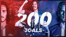 Les 200 buts de Cavani au Paris Saint-Germain !