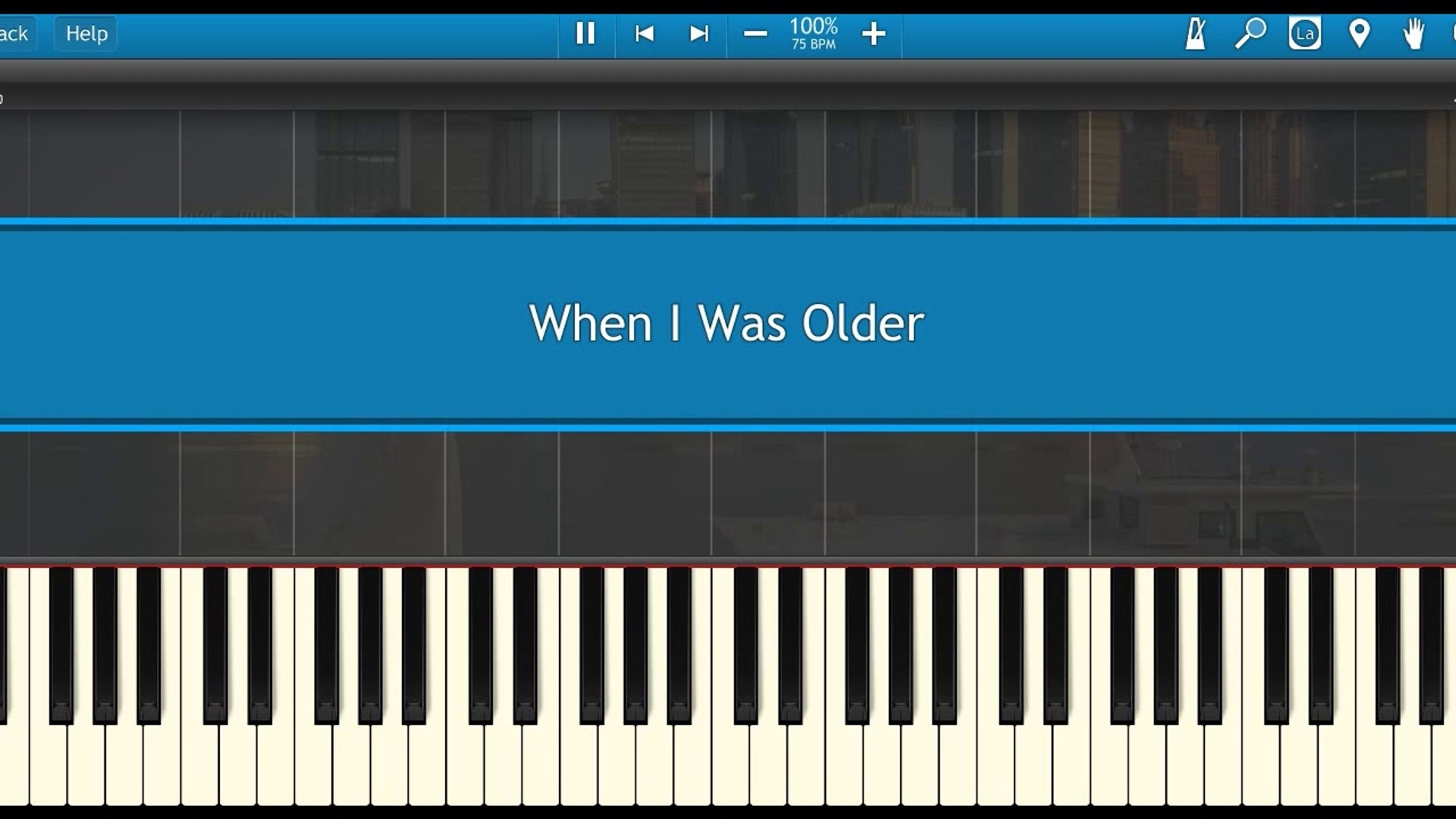 When I Was Older-Billie Eilish (Piano Tutorial Synthesia)
