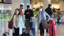 Mascarillas en los aeropuertos españoles. Los vuelos con destino u origen en Italia operan con normalidad pero los pasajeros toman medidas