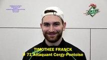 Hockey sur glace Interview de Timothée Franck, # 71 Attaquant des Jokers de Cergy-Pontoise, 22/02/2020 (D1 – J25 Clermont-Ferrand VS Cergy-Pontoise)