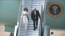 'Guest is God': Trump arrives to crowds and dance in India