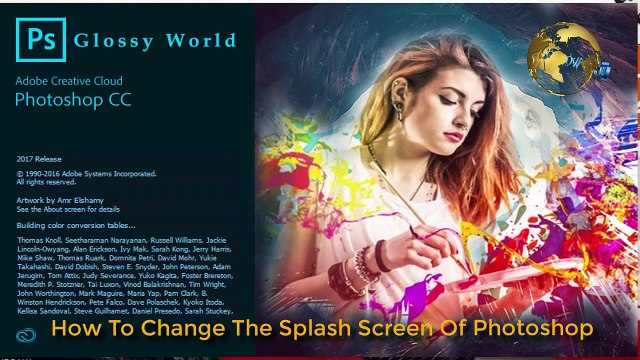 How To Change The Splash Screen Of Adobe Photoshop CC