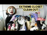 EXTREME Closet Clean Out (Please don't judge us after this video…lol) | Q2HAN