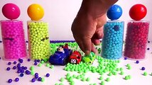 ABC Nursery TV - Pj Masks Wrong Heads Kinetic Sand Toys - Learn Colors Pj Masks Balls Beads Cars Surprise Toys
