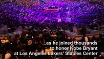 Thousands attend LA memorial for Kobe Bryant and daughter