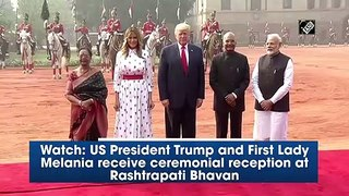 Watch- US President Trump and First Lady Melania receive ceremonial reception at Rashtrapati Bhavan