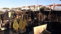 Alev alev yanan 4 balıkçı barakası küle döndü