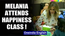 US first lady Melania Trump attends happiness class at a Delhi school | Oneindia News