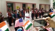 US First Lady Melania Trump's day out at Delhi school 'happiness class'