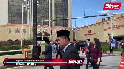 Hishammuddin, Najib, Zahid tiba di Istana Negara