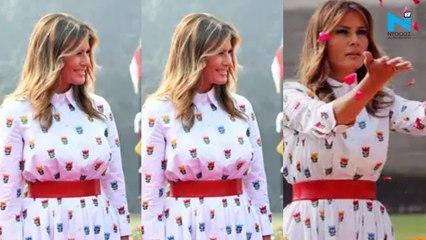 Melania Trump wears Rs 1.1 lakh shirt dress by Carolina Herrera on day 2 of India visit