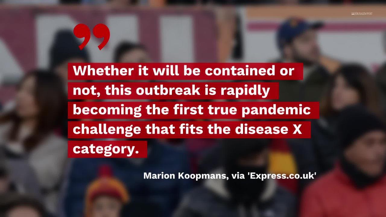 Coronavirus May Be Long Warned 'Disease X,' Experts Say