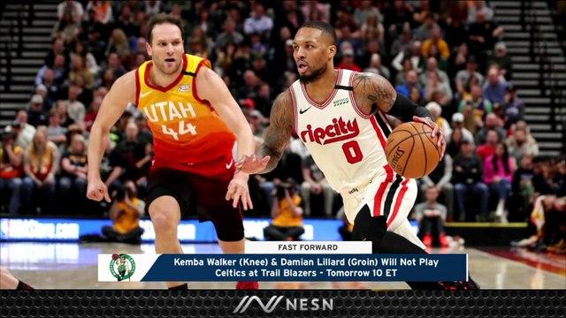 Kemba Walker, Damian Lillard Out Tuesday In Celtics vs. Trail Blazers