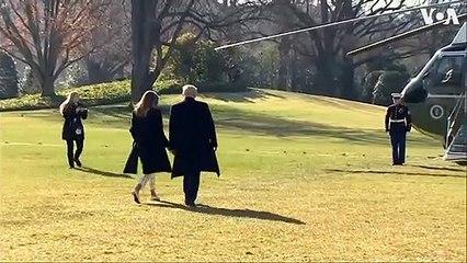 President Trump and Melania Trump Depart for India