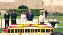 US President Donald Trump, First Lady Melania Trump Visit Raj Ghat to pay respect to Mahatma Gandhi