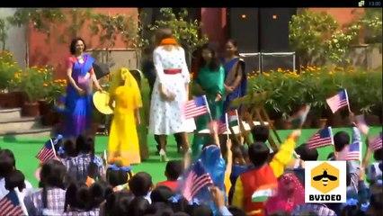 US President Donald Trump, First Lady Melania Trump Visit visits Delhi school