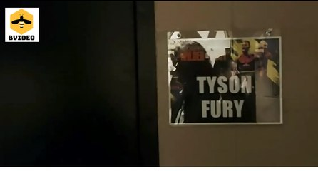 Tyson Fury dressing room before Deontay Wilder fight