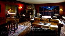 Cozy Rustic Living Room with View on Lake #ASMR #DreamHomes