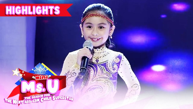 Riana Villaceran emerges as Mini Miss U of the day | It's Showtime Mini Miss U