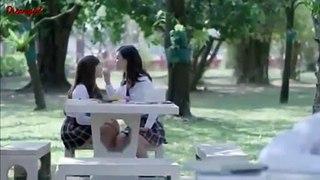 Lesbian couple kissing seen