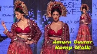 Amyra Dastur Walks For Rajdeep RanawatAt LFW Spring Summer 2020