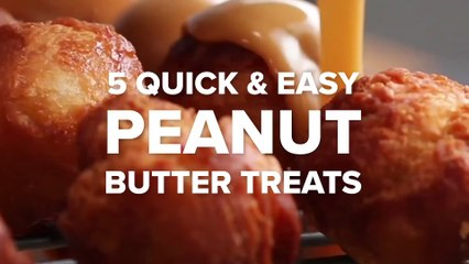 5 Quick & Easy Peanut Butter Treats • Delicious Food