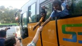 Delhi kids shout 'Indira Gandhi' as they spot Priyanka during peace marc