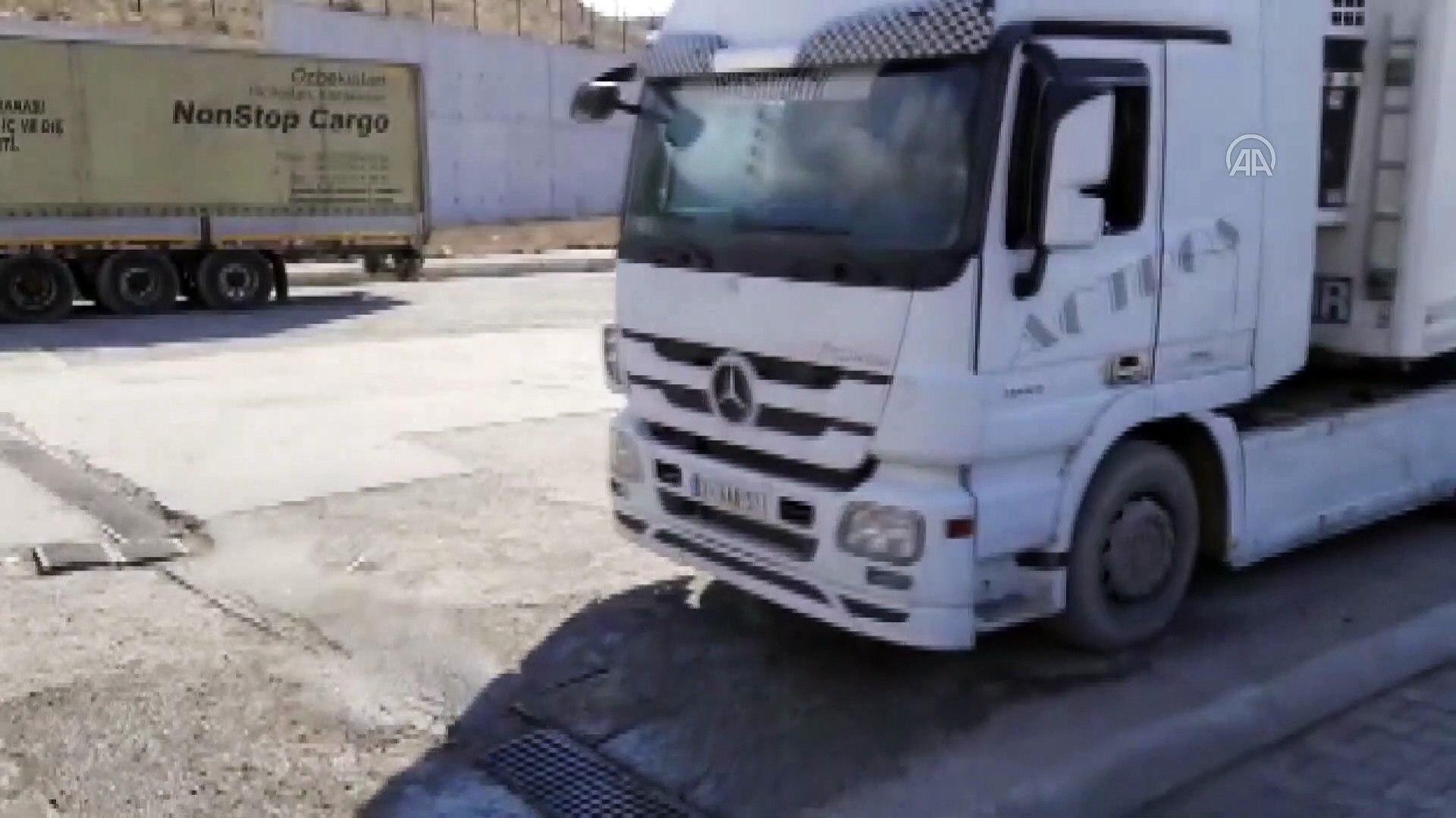 İran'dan Türkiye'ye araçlar dezenfekte edildikten sonra alınıyor - AĞRI