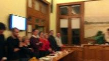 Marie-France Beaufils la maire de Saint-Pierre-des-Corps a présidé mardi 25 février son dernier conseil municipal