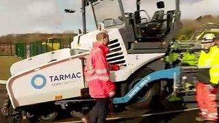Duke of Cambridge visits Tarmac's new centre near Mansfield