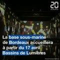 Bordeaux : Les toutes premières images des Bassins de Lumières à la base sous-marine