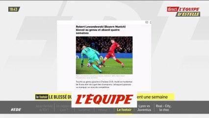 Lewandowski blessé au genou et absent quatre semaines - Foot - ALL - Bayern