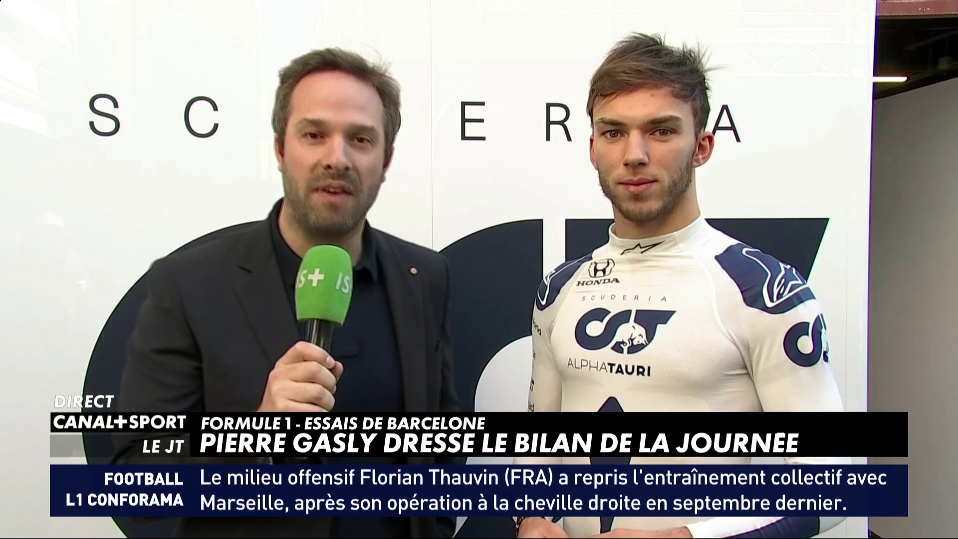 F1 - Pierre Gasly satisfait de ses débuts
