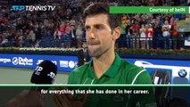 Djokovic pays tribute to 'great fighter' Maria Sharapova