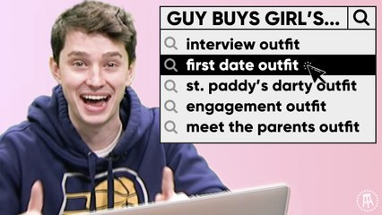 Guys [Tries To] Buy Girl's First Date Outfit