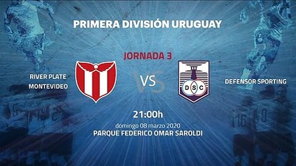 Previa partido entre River Plate Montevideo y Defensor Sporting Jornada 3 Apertura Uruguay